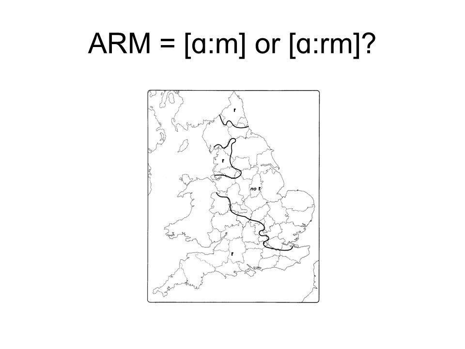ARM = [ɑ:m] or [ɑ:rm]